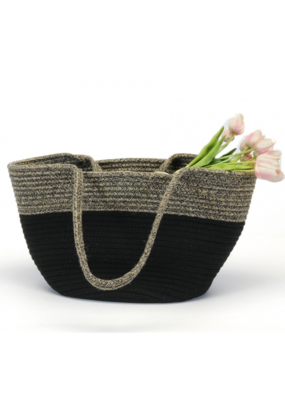 Jute and Cotton Basket