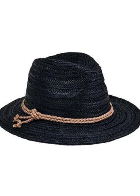 San Diego Fedora w/ Double Knot Braid Black
