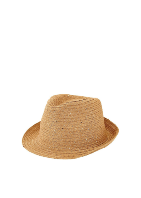 San Diego Fedora Ultrabraid Sequin Natural