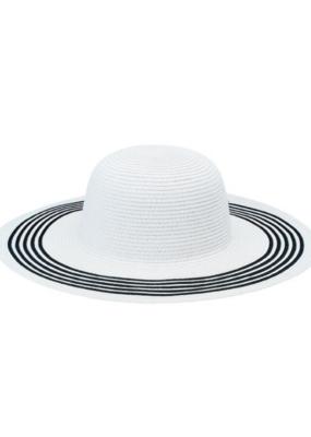 San Diego Hat Floppy White with Black