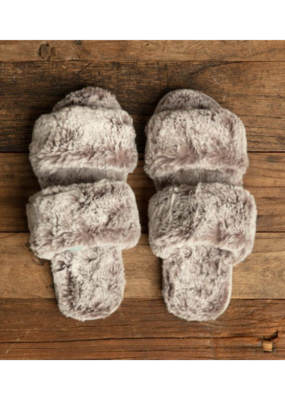 Lemon Fur Slide Slippers Clay
