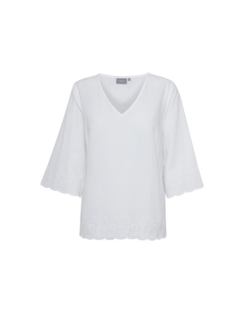 "b.young b.young ""Honey Blouse"" in Optical White"