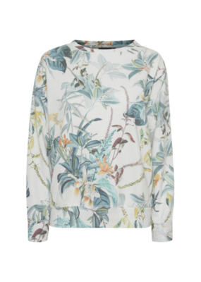 b.young ONLINE EXCLUSIVE!  BY Tropic Sweatshirt, White Combi.
