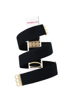 Unbelt Unbelt in Jet Black with Gold Buckle