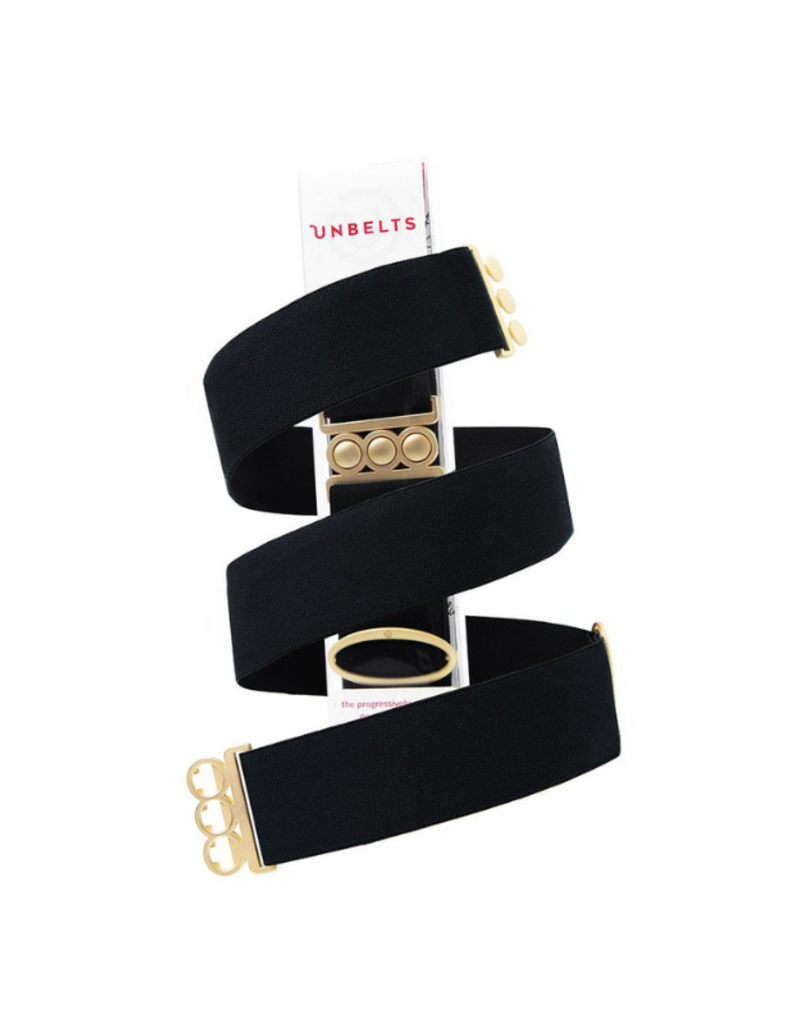 Unbelt in Jet Black with Gold Buckle