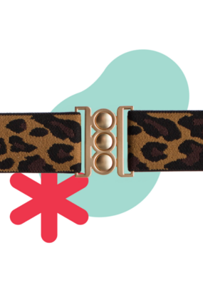 Unbelt in Limited Edition Leopard with Gold Buckle