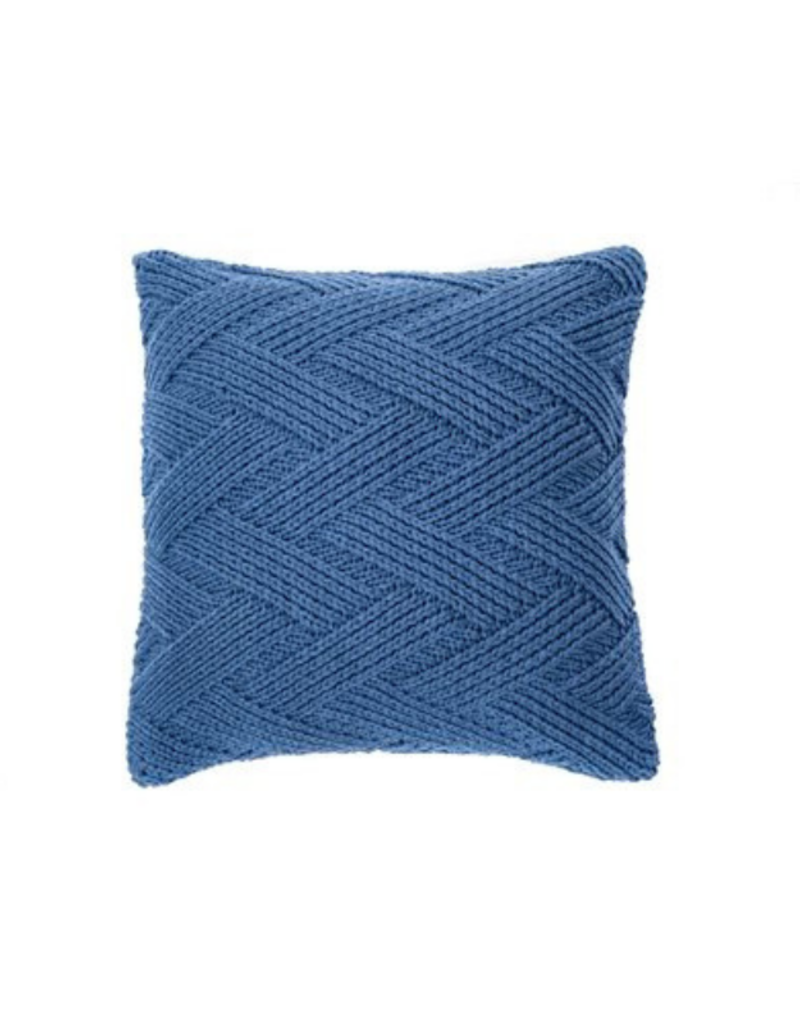 Zig Zag Cushion Blue