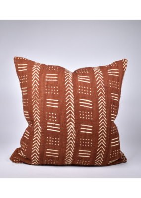 rug & weave Rust Mudcloth Pillow