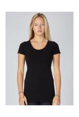 C'est Moi Clothing Bamboo One Size S/S Scoopneck Black