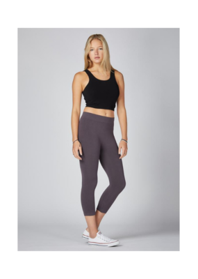 C'est Moi Clothing Bamboo One Size 3/4 Leggings Charcoal