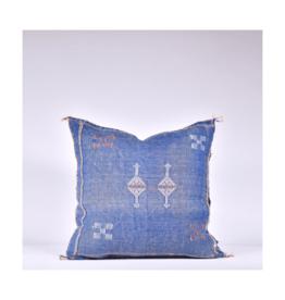 rug & weave Blue Sabra Silk Pillow