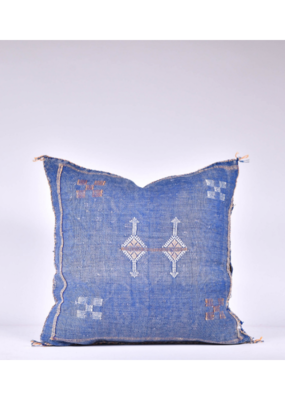 rug & weave Blue Sabra Silk Pillow