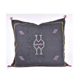 rug & weave Black Sabra Silk Pillow