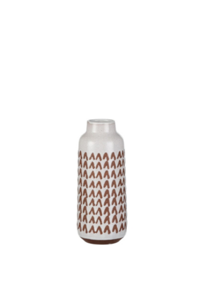"Jungle Vase Round White 9"""