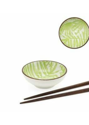 """Kiri Porcelain 3"""" Sauce Dish Palm Leaf"""