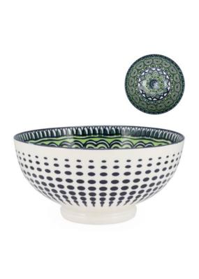 Kiri Bowl, Medium, Green Mandala