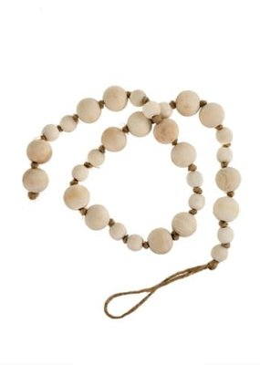 Wooden Prayer  Natural Beads with Loop End