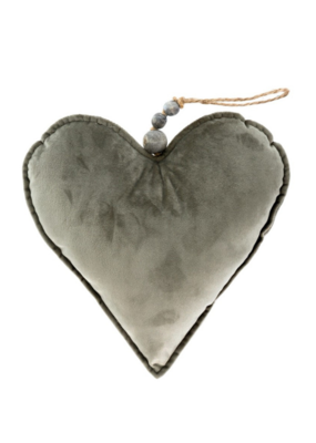 Velvet Heart Grey Large