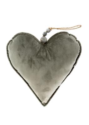 Velvet Heart Grey Large