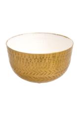 Colourful Metal Bowl White Food Safe