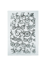 rain goose textiles Black Bike Linen Tea Towel