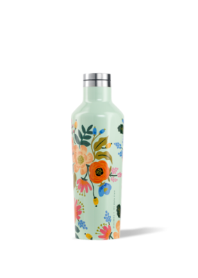 Corkcicle Rifle Paper 16oz Canteen, Mint Floral