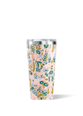 Corkcicle Rifle Paper 16oz Tumbler, Tapestry, Pink