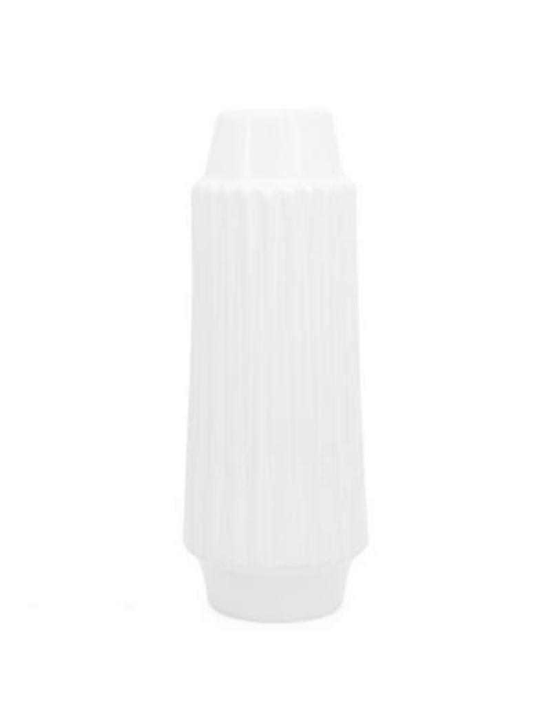 """Ella Ceramic Vase, White, 14""""H"""