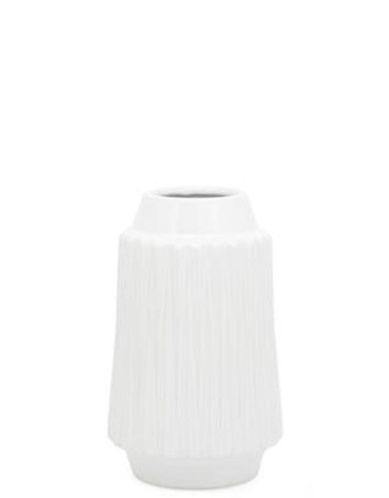 """Ella Ceramic Vase, White, 9""""H"""