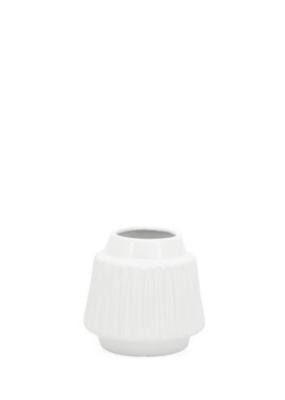 """Ella Ceramic Vase, White, 6""""H"""