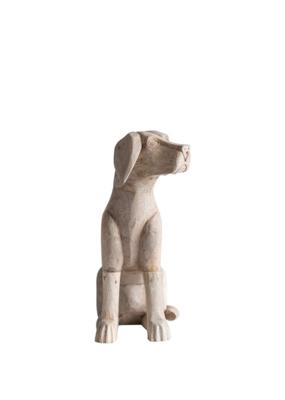 "Mango Wood Lab/Retreiver, Hand-Carved, 15-3/4""H"