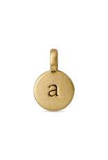 PILGRIM Pilgrim Letter Charms Gold