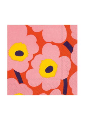 Marimekko Unikko Rose Cocktail Napkins