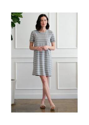 Mododoc Scallop Grey Dress