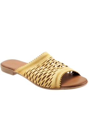 "Bueno Bueno ""Jenna"" Slide  in Yellow Leather"