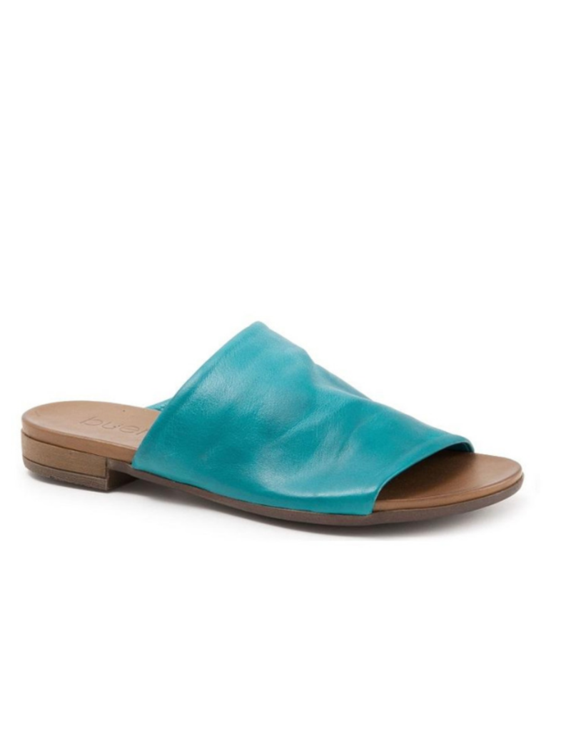 """Bueno Bueno """"Turner"""" Slide in Turquoise Leather"""