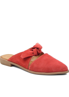 "Bueno Bueno ""Bowery"" Mule in  Pomegranete Suede"