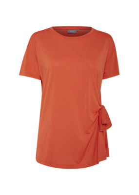 b.young b.young Pamella Knot T-Shirt Spicy Red