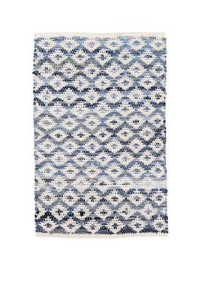 Dash & Albert Dash & Albert Denim Rag Diamond Ivory Woven Cotton Rug
