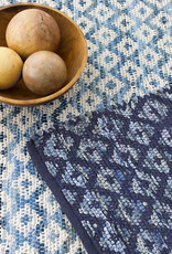 Dash & Albert Dash & Albert Denim Rag Diamond Ivory Woven Cotton Rug