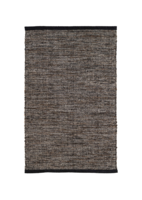 Dash & Albert Dash & Albert Grant Black/Brown Cotton Rug