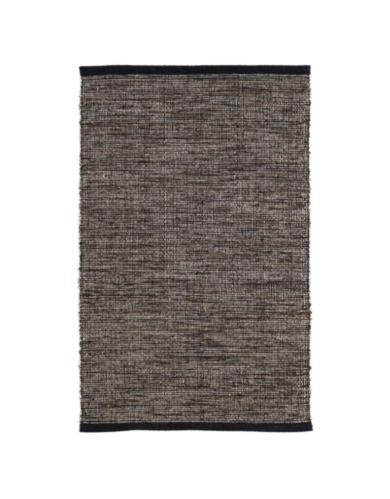 Dash & Albert Dash & Albert Grant Black/Brown Cotton Rug