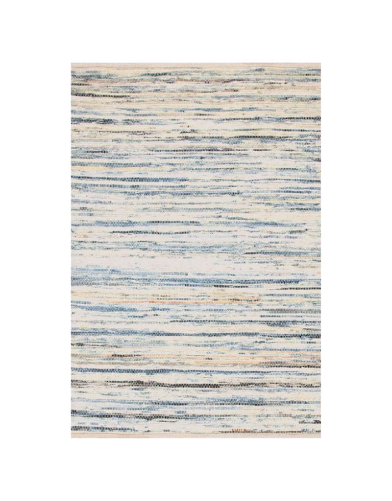 Dash Denim Rag Rug, Woven Cotton, 2x3