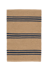 Dash & Albert Dash & Albert Indoor/Outdoor Lexington Rug in Navy & Camel