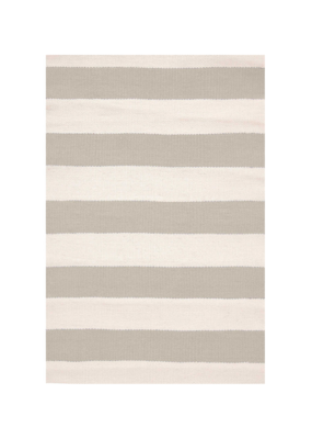 Dash & Albert Dash & Albert Platinum/Ivory Catamaran Stripe Indoor/Outdoor