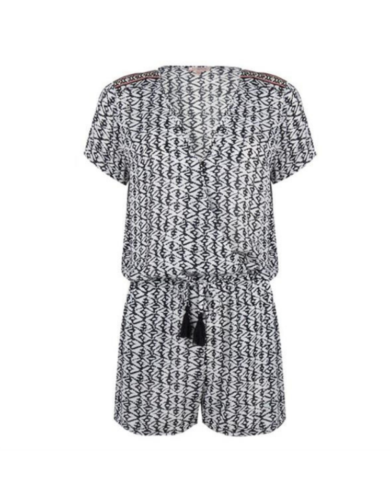 ESQUALO  Play Suit Print Shorty Romper