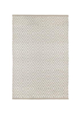 Dash & Albert Dash & Albert Diamond Fieldstone Ivory Indoor/Outdoor 3x5