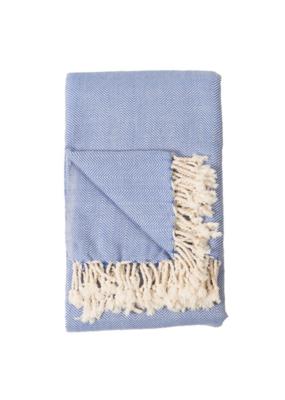 Turkish Blanket Fishbone Cornflower