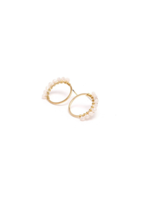 Lover's Tempo LT Earrings Helios Post Cream