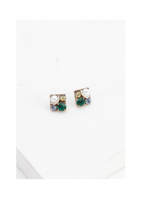 Lover's Tempo Lover's Tempo Waterlily Post Earring Green